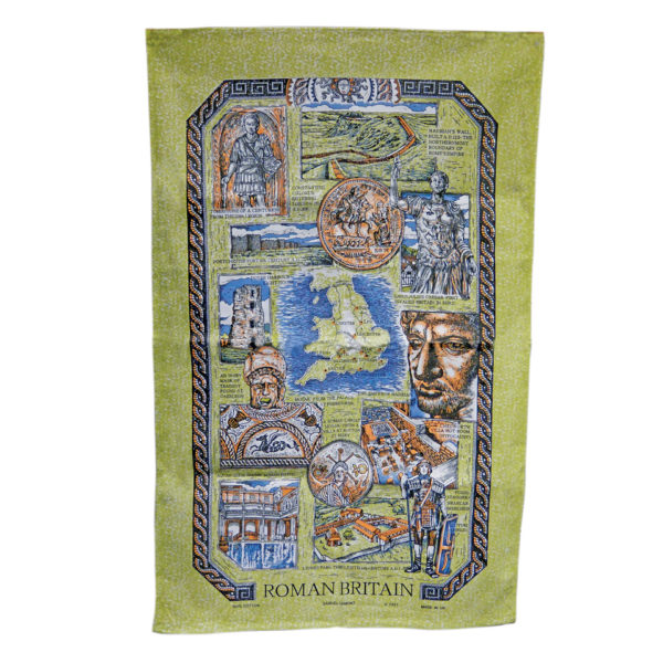 Roman tea towel - green