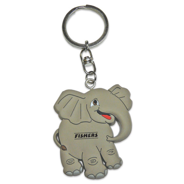 PVC-Elephant-Keyring