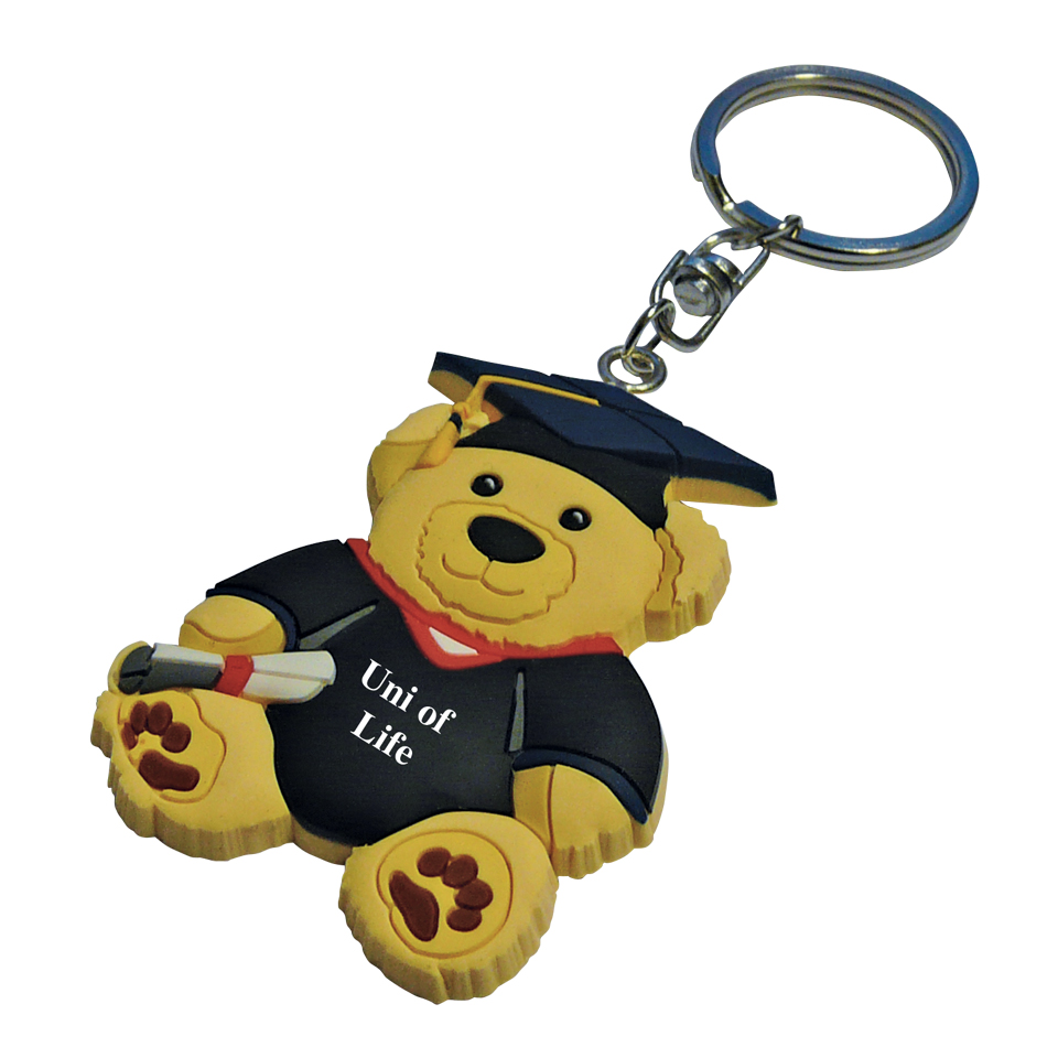 PVC-Keyring-Graduation-Teddy
